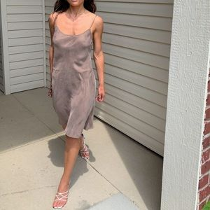 Anthro Pure + Good Silky Slinky Naked Nude Dress